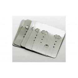 100 silber Schmuckkarten 48x38mm ohne Text Schmuck Display Ohrringe Kunststoff - Schmuckzubehör