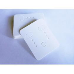 20 weisse Schmuckkarten 48x38mm Papier ohne Schrift Schmuck Display Ohrringe - Schmuckzubehör