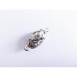 1x silber Strass Magnetverschluss 22x9x8mm silber Schmuckverschluss mit Strass - Schmuckzubehör Magnetverschluss