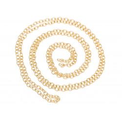 50cm rose gold Kette 4x3mm rosegoldfarbene Gliederkette - rosegold Schmuckzubehör Schmuckkette