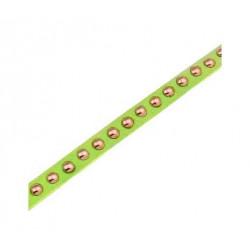1m hellgrünes Kunstlederband 8mm mit Nieten hellgrünes Schmuckband in Wildlederoptik für Armbänder - Schmuckzubehör Lederband
