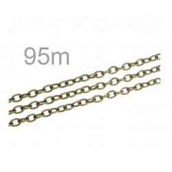 50m bronze Kette 3,7x5,5x1mm bronzefarbene Gliederkette - bronze Schmuckzubehör