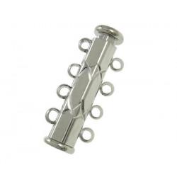 1x silber 4-Strang Magnetverschluss silber Schmuckverschluss - Schmuckzubehör Magnetverschluss