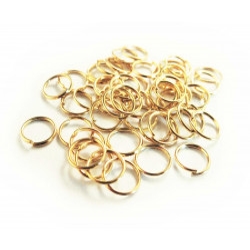 25x gold Biegering 8mm als runder goldfarbener Biegering gold Bindering - Schmuckzubehör Biegering