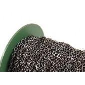 50m gunmetal Kette 4x5,9x1mm auf Rolle gunmetal Gliederkette zum Ketten selber basteln - gunmetal Schmuckzubehör