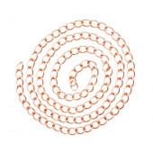 Ca. 100cm rosegold Kette 11x7,5mm rosegold Gliederkette mit großen Ösen selber machen - rosegold Schmuckzubehör Schmuckkette