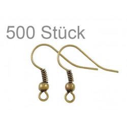 Ca. 500 Stück bronze Ohrfedern ca. 19x20mm bronze Schmuckzubehör Ohrringe basteln