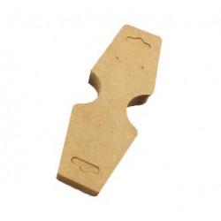 20 natur braune Schmuck Karten für Halsketten 120x50mm Papier ohne Schrift Schmuckset Display - Schmuckzubehör