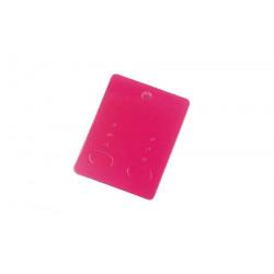 20 pink fuchsia Hochglanz Schmuckkarten 65x50mm Papier ohne Schrift Schmuck Display Ohrringe - Schmuckzubehör