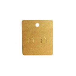 20 natur braune Schmuck Karten 60x50mm Papier ohne Schrift Schmuck Display Ohrringe - Schmuckzubehör