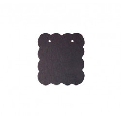 20 matte schwarze Schmuckkarten 50x50mm Papier ohne Schrift Schmuck Display Ohrringe - Schmuckzubehör
