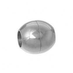 1x silber Edelstahl Magnet Verschluss 14x13mm Innen 6mm Edelstahl Verschluss zum Einkleben - Edelstahl Schmuckzubehör