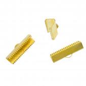10x gold Bandklemme 22mm goldfarbene Bandklemmen - gold Schmuckzubehör