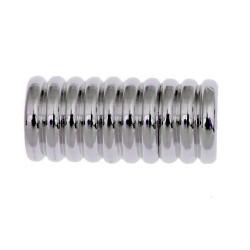 1x silber Edelstahl Magnetverschluss 19x9mm Innen 6mm Edelstahl Verschluss zum Einkleben - Edelstahl Schmuckzubehör