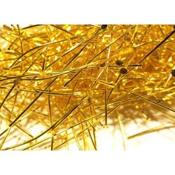 100g hellgold Nietstifte 52mm goldfarben Schmuckdraht mit Kopf - Schmuckzubehör Nietstifte
