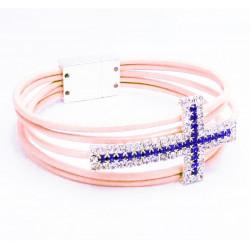 Leder Armband mit Strasskreuz, wir zeigen Ihnen was Sie benötigen - Schmuck basteln
