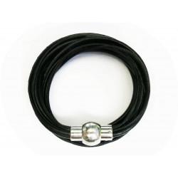 Bastelset schwarzes Leder Armband mit Magnetverschluss, wir zeigen Ihnen was Sie benötigen - Schmuck basteln