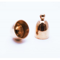 2x Rosegold Endkappe 11x15mm Innen 9,5mm aus Edelstahl rosegold Einklebkappen - rosegold Schmuckzubehör