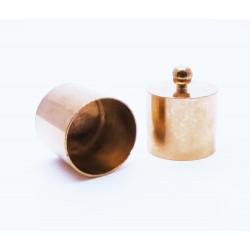 2x Edelstahl Rosegold Endkappe 12x15mm Innen 11mm rosegold Einklebkappen - rosegold Schmuckzubehör
