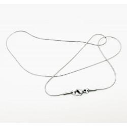 1x Edelstahl Halskette ca. 43cm Stärke 1mm Schlangenkette aus Edelstahl - Schmuckzubehör Schmuckkette