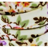 10cm geblümtes beige Schmuckband 10mm Stärke 2mm für Armband und Wickelarmband - Schmuckzubehör Schmuckband