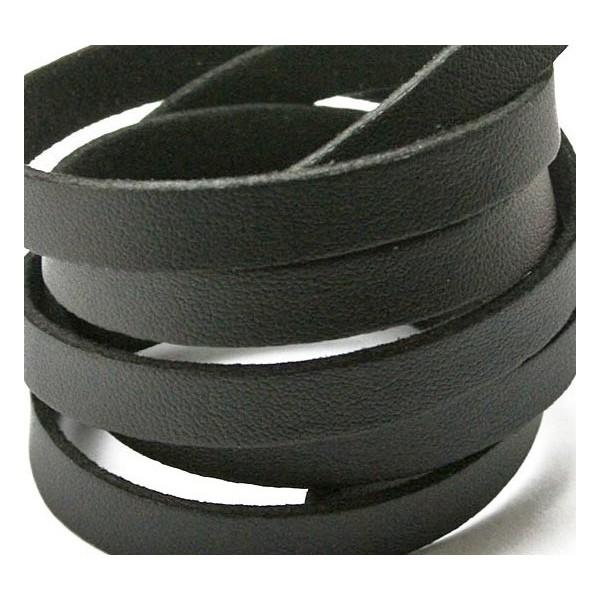 Schwarzes Lederband