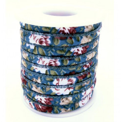 4,5m geblümtes petrol Schmuckband 6mm Stärke 4mm auf Rolle für Armband und Wickelarmband - Schmuckzubehör Schmuckband