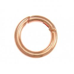 1x runder rosegold Ringverschluss ca. 25x4mm rosegold Karabinerhaken - Schmuckzubehör