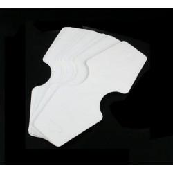 50 weiße Schmuck Karten für Halsketten 125x50mm Papier ohne Schrift Schmuckset Display - Schmuckzubehör