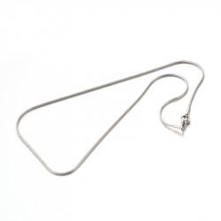 1x Edelstahl Halskette ca. 45cm Stärke 1,5mm Schlangenkette aus Edelstahl - Schmuckzubehör Schmuckkette