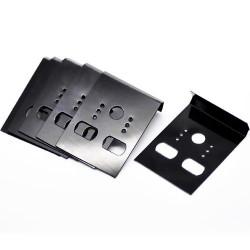 100 schwarze Schmuckkarten 42x30mm für Ohrringe schwarzes Kunststoff Schmuckdisplay - Schmuckzubehör