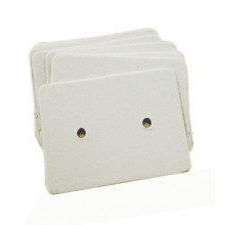 100 weisse Schmuckkarten 33x25mm Papier ohne Schrift Schmuck Display Ohrringe - Schmuckzubehör