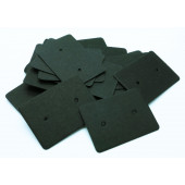 20 matte schwarze Schmuckkarten 35x25mm Papier ohne Schrift Schmuck Display Ohrstecker - Schmuckzubehör