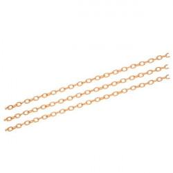50cm rosegold Kette 3x4,6x0,9mm rosegoldfarbene Gliederkette rosegold Schmuckkette - rosegold Schmuckzubehör