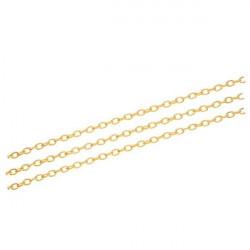 50cm gold Kette 3x4,6x0,9mm goldfarbene Gliederkette gold Schmuckkette - gold Schmuckzubehör