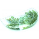 Grüner Perlenmix aus Glasperlen in Sortierbox zum Schmuck basteln - Schmuckzubehör Set