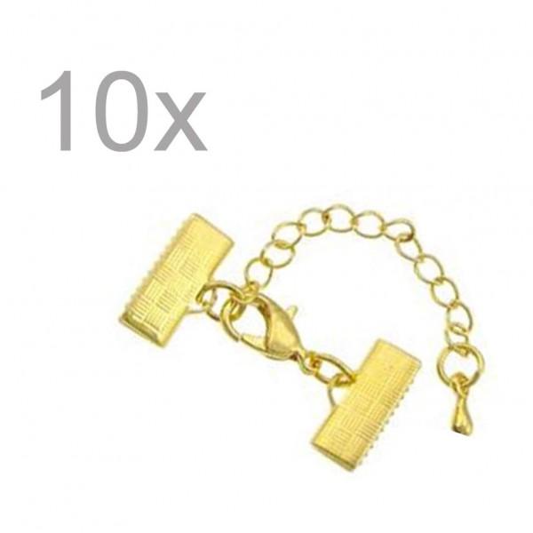 Karabiner Haken 8 Stück Farbe gold #3445#
