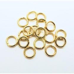 20x stabiler vergoldeter Biegering 8x1mm rund Biegering goldfarben - Schmuckzubehör Biegering