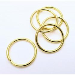 5x stabiler gold Biegering 20mm Stärke 2mm rund Biegering goldfarben - Schmuckzubehör Biegering