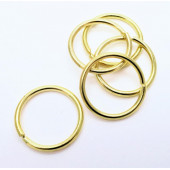 5x stabiler goldfarbener Biegering 20mm Stärke 2mm rund Biegering - Schmuckzubehör Biegering