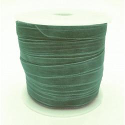 45m flaschengrünes Organzaband Breite 6mm für Halsband und Wickelarmbänder - Schmuckzubehör Organzaband