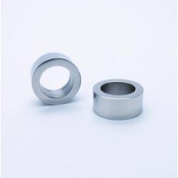 1x Edelstahl Perle 9x4mm Loch 6mm Donut silber Spacer Metallperle - Edelstahl Schmuckzubehör