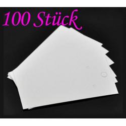 100 weisse Schmuckkarten 90x50mm Papier ohne Schrift Schmuck Display Ohrringe - Schmuckzubehör