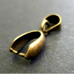 2x bronze Collierschlaufe 12x5mm bronze Anhängerhaken Steigbügelform - bronze Schmuckzubehör