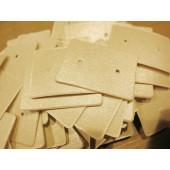 20 beige / hellgold Schmuck Karten 33x25mm Papier ohne Schrift Schmuck Display Ohrstecker - Schmuckzubehör
