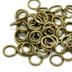 10x bronze Biegering 10mm x 1,5mm rund bronze Binderinge - bronze Schmucktzubehör