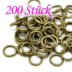 200 bronze Biegering 10mm x 1,5mm rund bronze Binderinge - bronze Schmucktzubehör