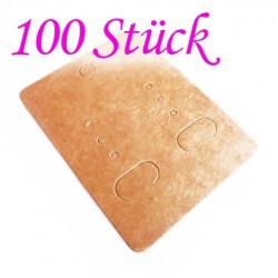 100 natur braune Schmuck Karten 65x50mm Papier ohne Schrift Schmuck Display Ohrringe - Schmuckzubehör