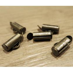 2x bronze 10mm Bandklemme Perlenband Kettenverbinder Chandelierverteiler Einklebhülse - Schmuckzubehör