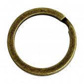 Bronze Schlüsselring 20mm Spaltring bronzefarben matt stabil